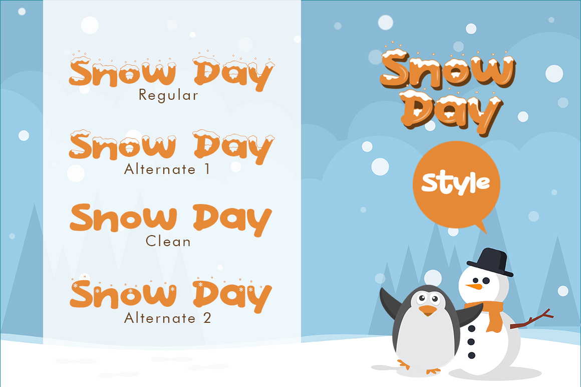 Snow Day Display example image 2