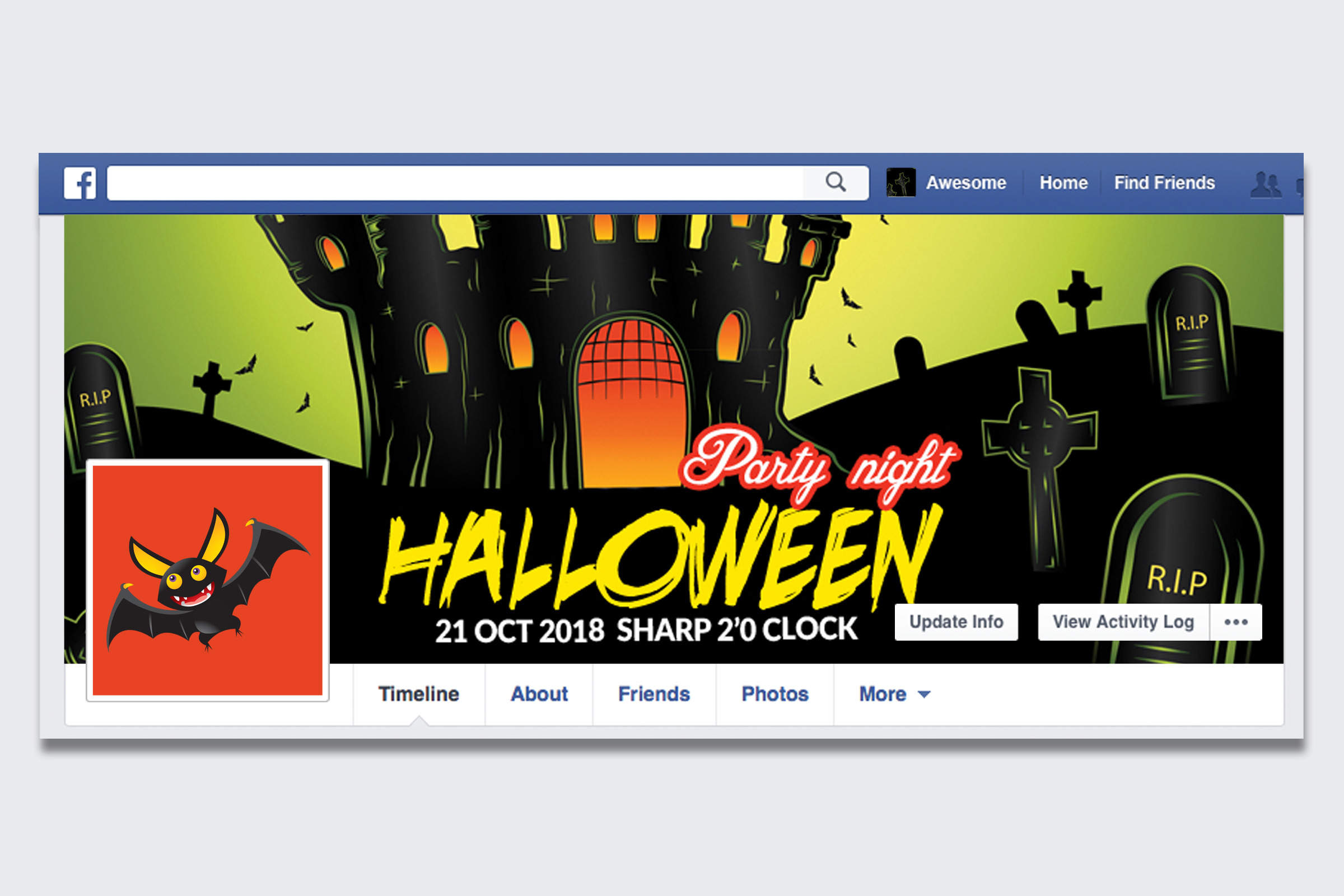 Halloween Night Facebook Timeline Cover example image 1