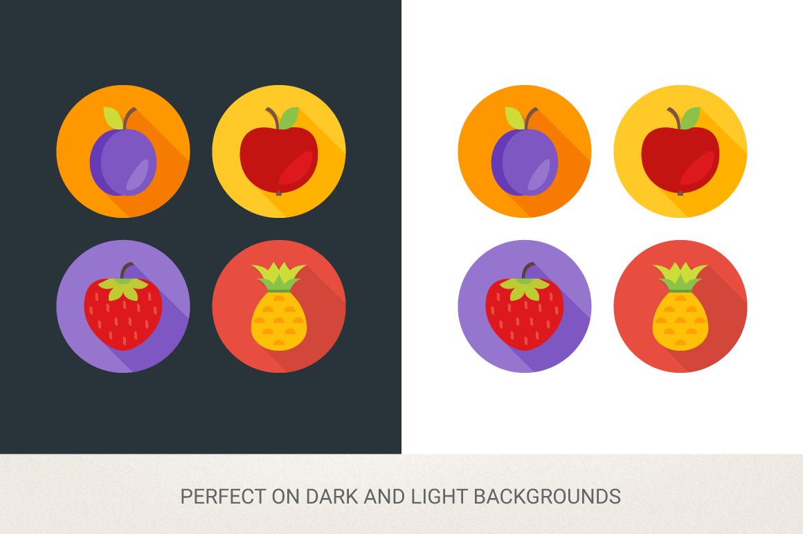 Round Fruits Icons example image 2