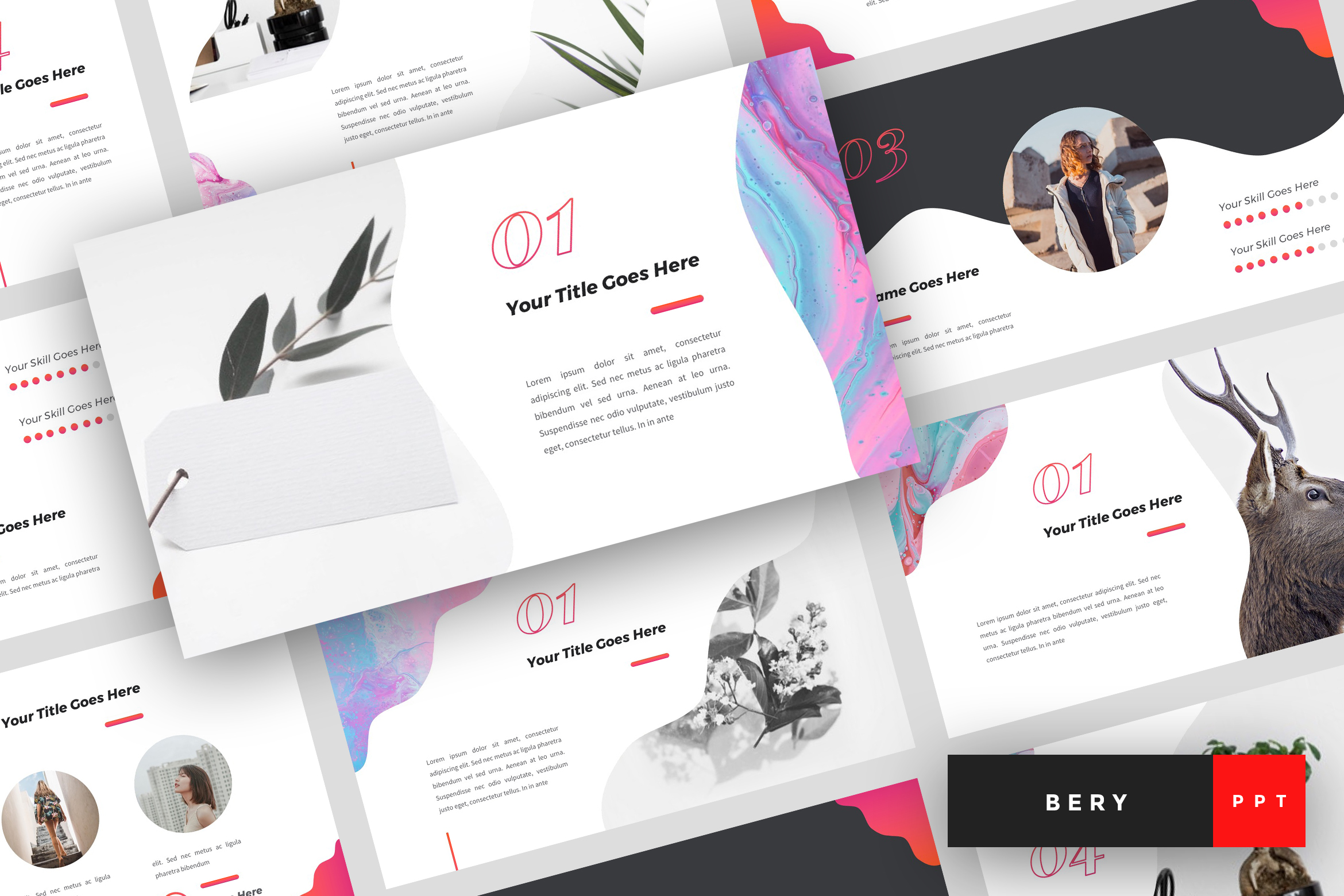 Bery - Creative PowerPoint Template example image 1