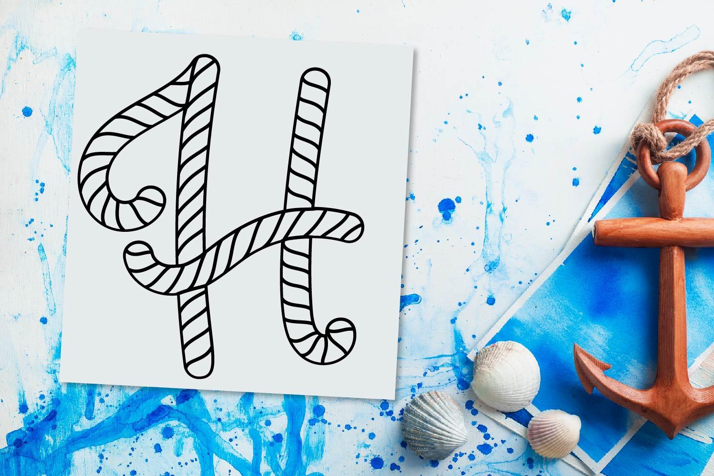 Rope Monogram - A Monogram Letter Trio! example image 2