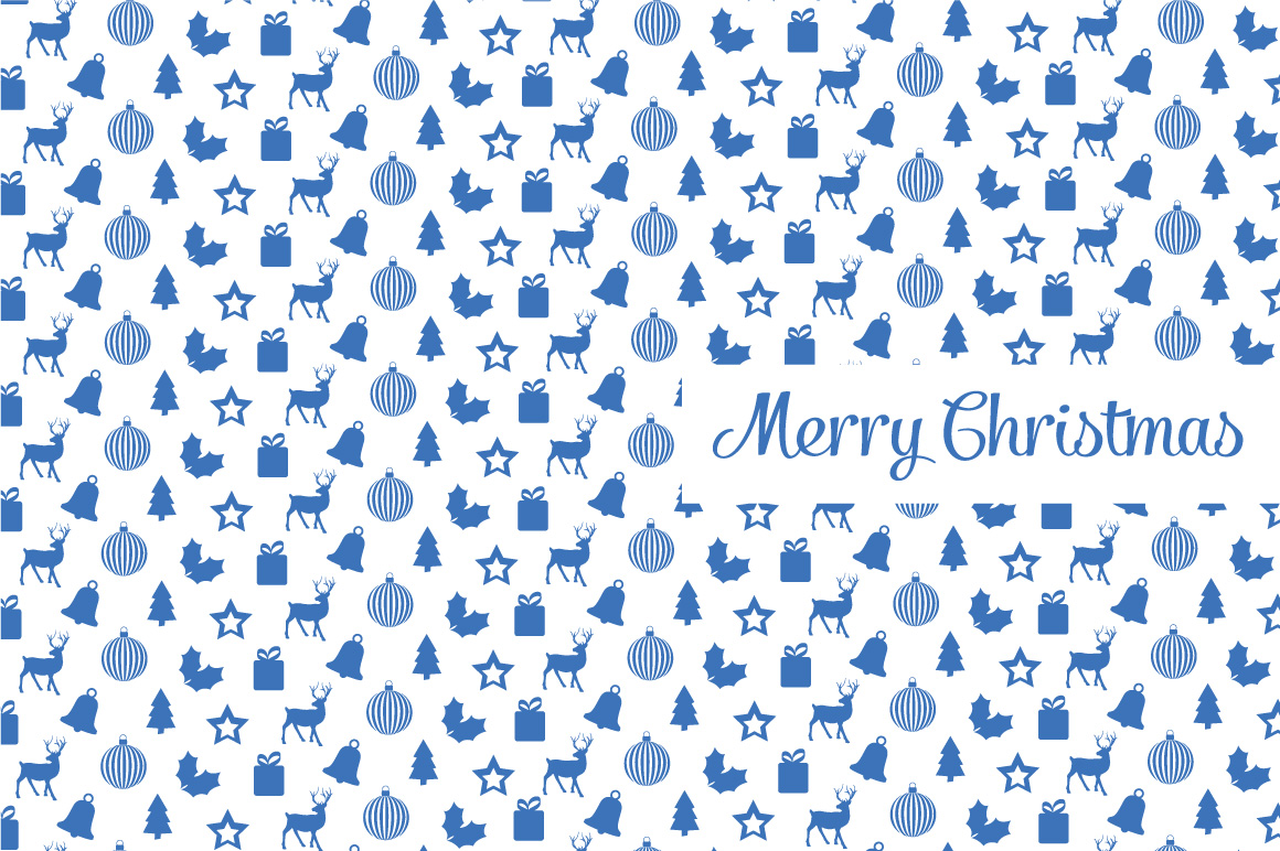 Christmas elements patterns example image 1