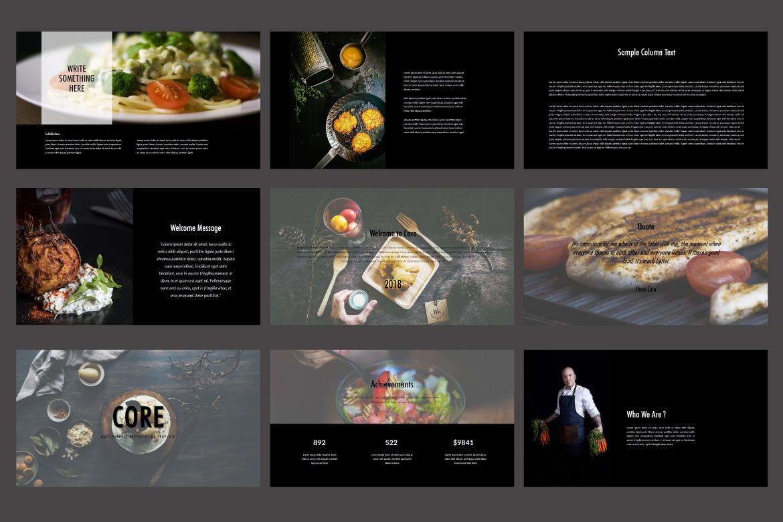 Core - Food PowerPoint Dark example image 2
