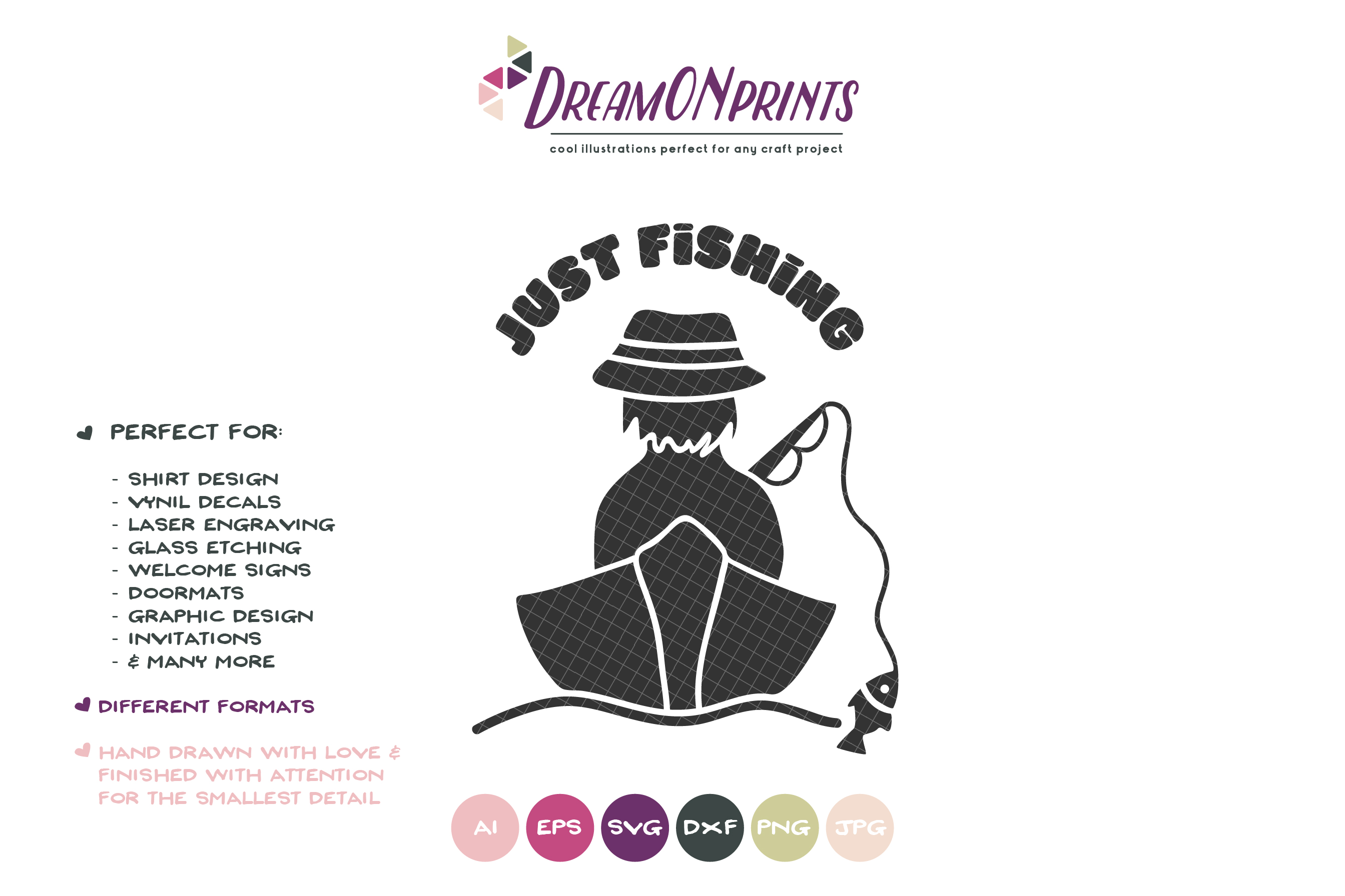 Just Fishing SVG - Fisherman SVG example image 2