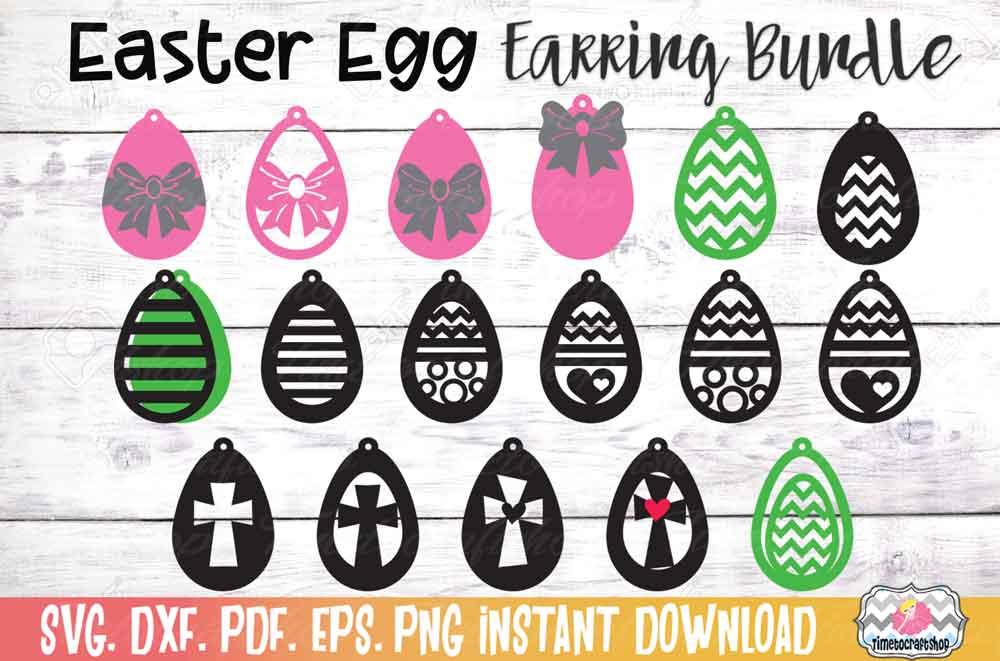 Easter Earring Bundle, Easter Egg Earrings, Cross Earrings example image 1