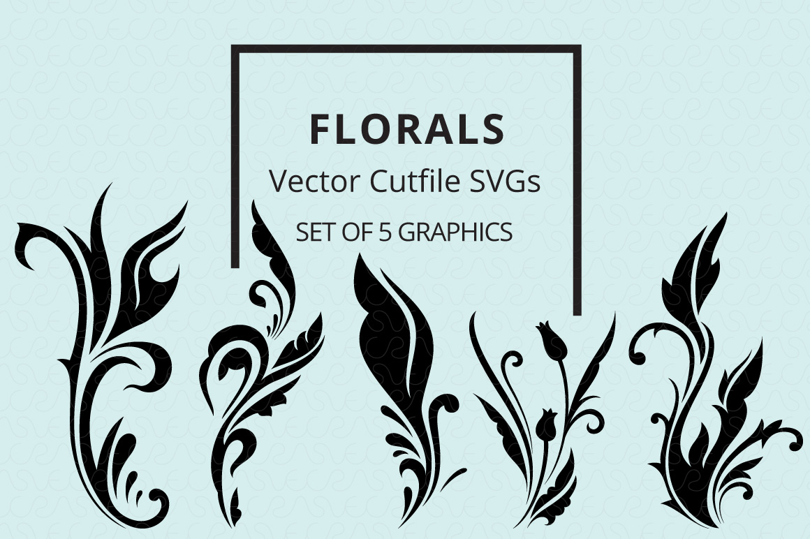 SVG Florals Cutfiles Bundle Pack of 270 vector graphic shape example image 4