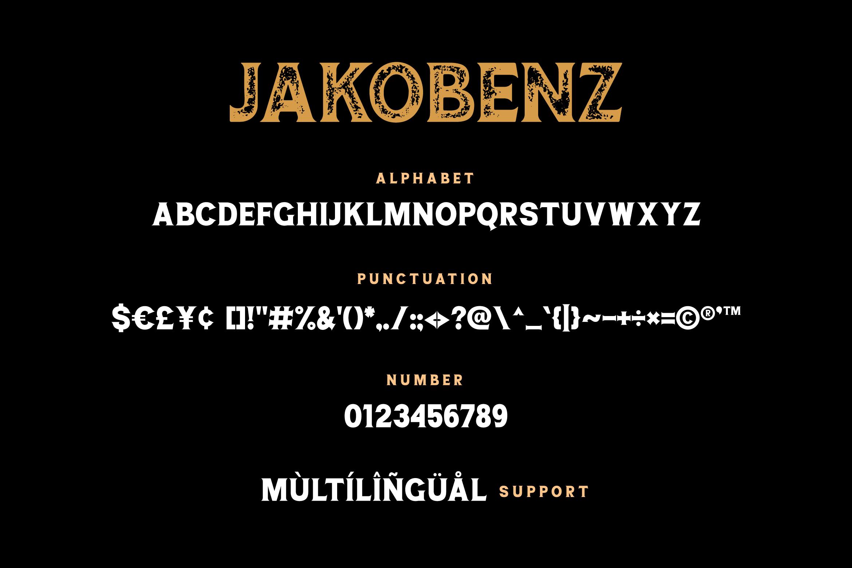 Jakobenz - Vintage Serif Font example image 6