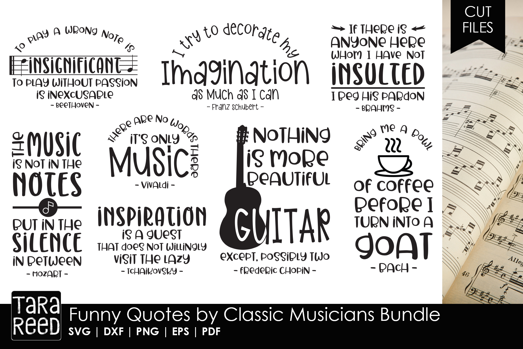 Funny Quotes by Classic Musicians Bundle
