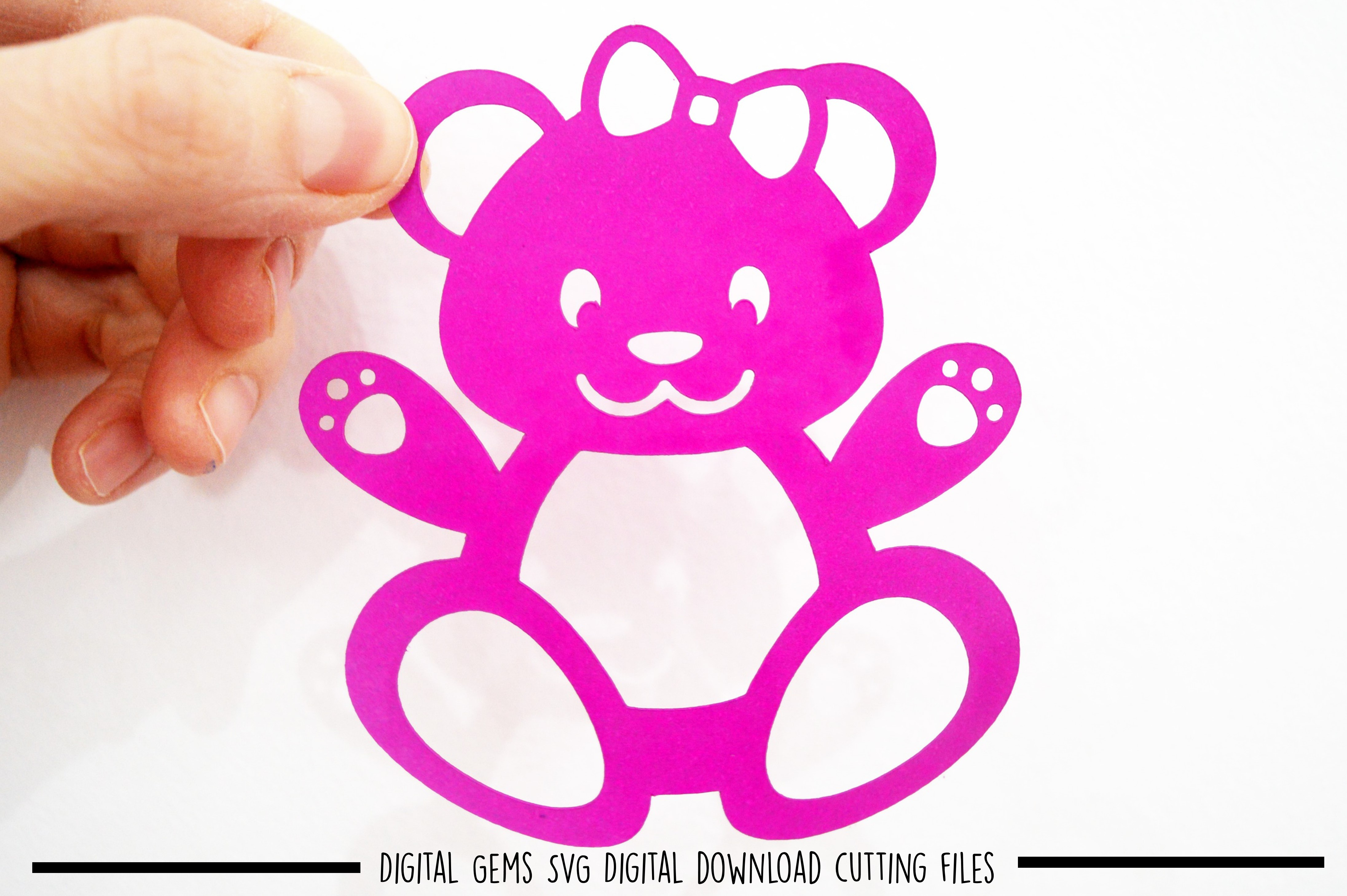 Bear paper cut SVG / DXF / EPS files example image 2