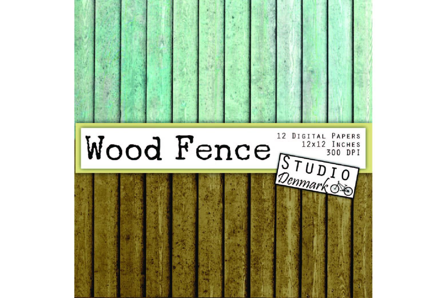 Wood Digital Paper - Distressed Wood Fence Planks example image 2