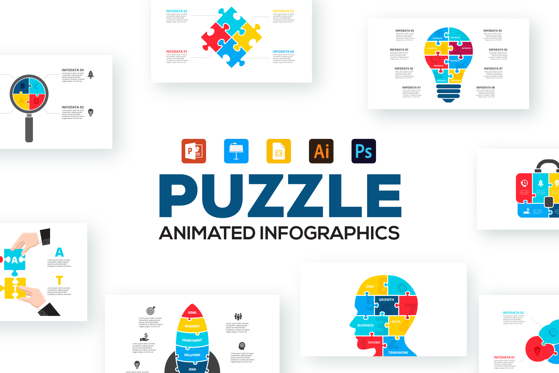 Puzzle Animated Infographics example image 1