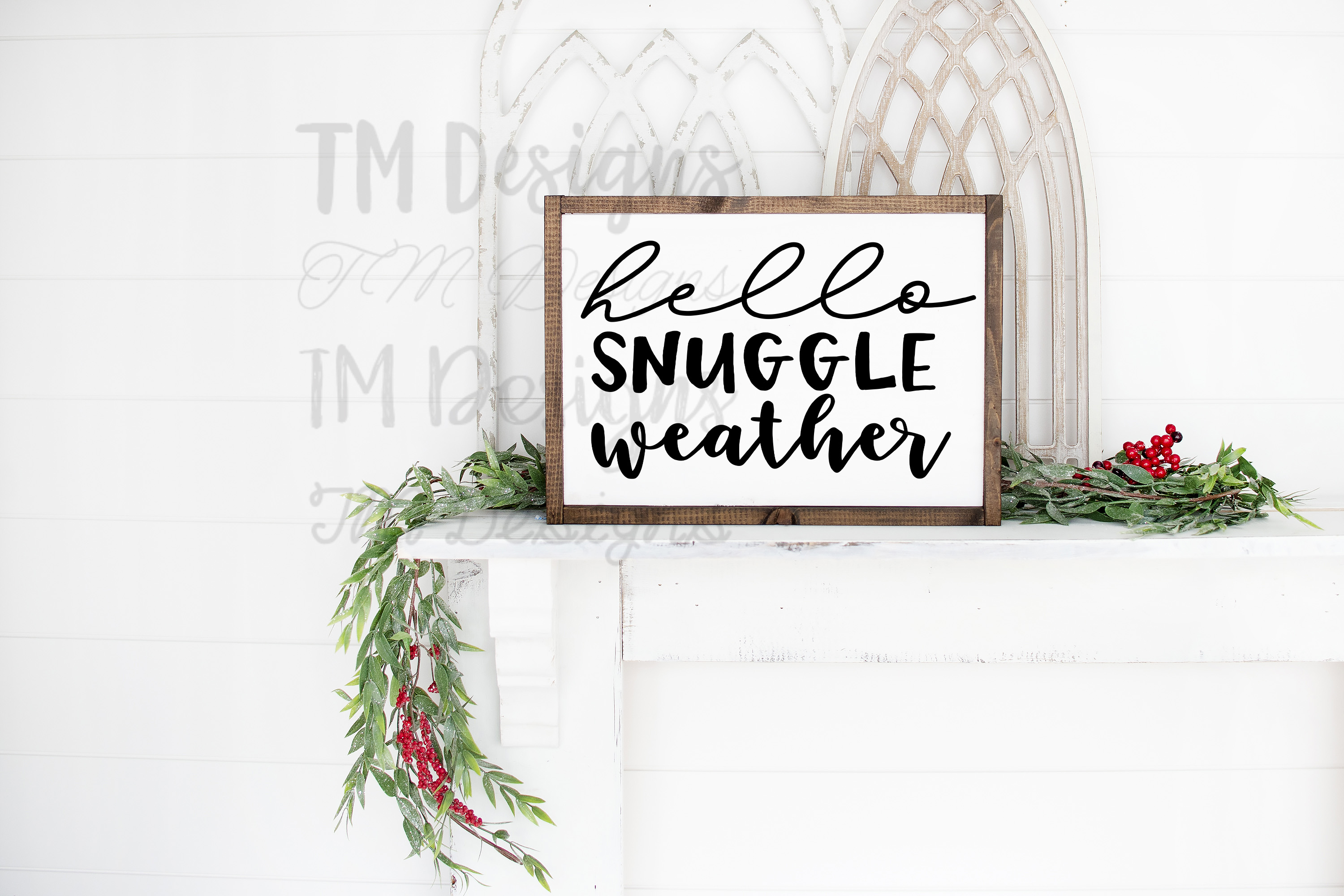 Hello Snuggle Weather SVG example image 2