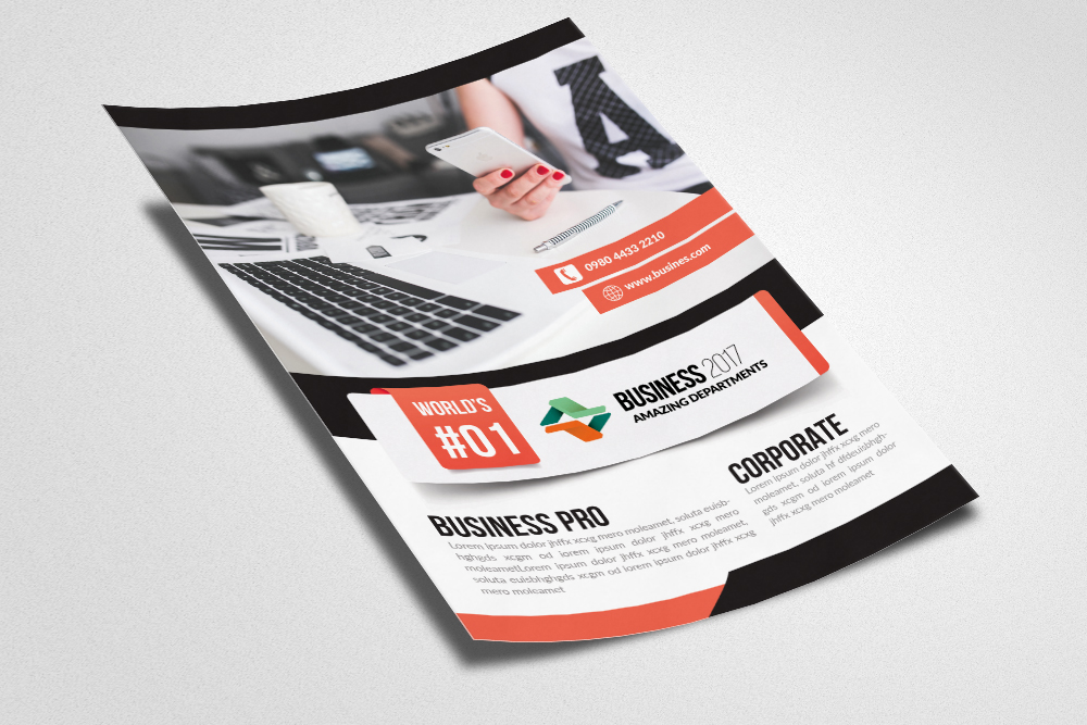 Computer Repair / Data Entry Flyer Templates example image 2