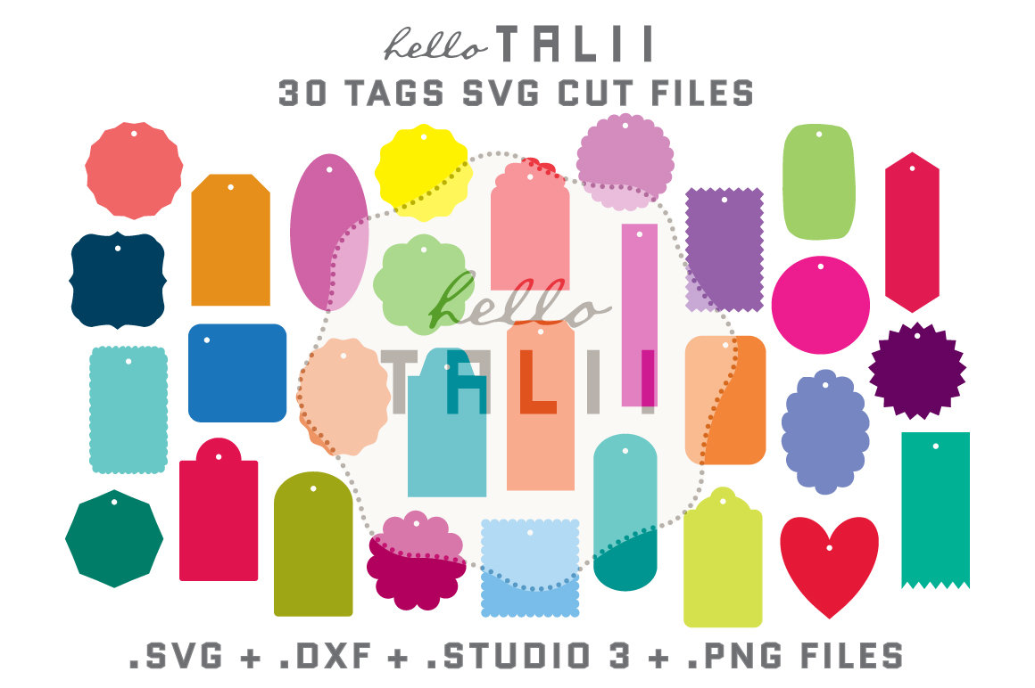 Tags SVG Cutting Files BUNDLE example image 1