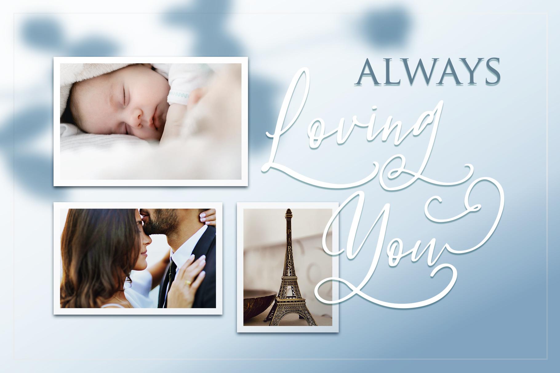 Fleur Bleue - Beautiful Romantic Font example image 5