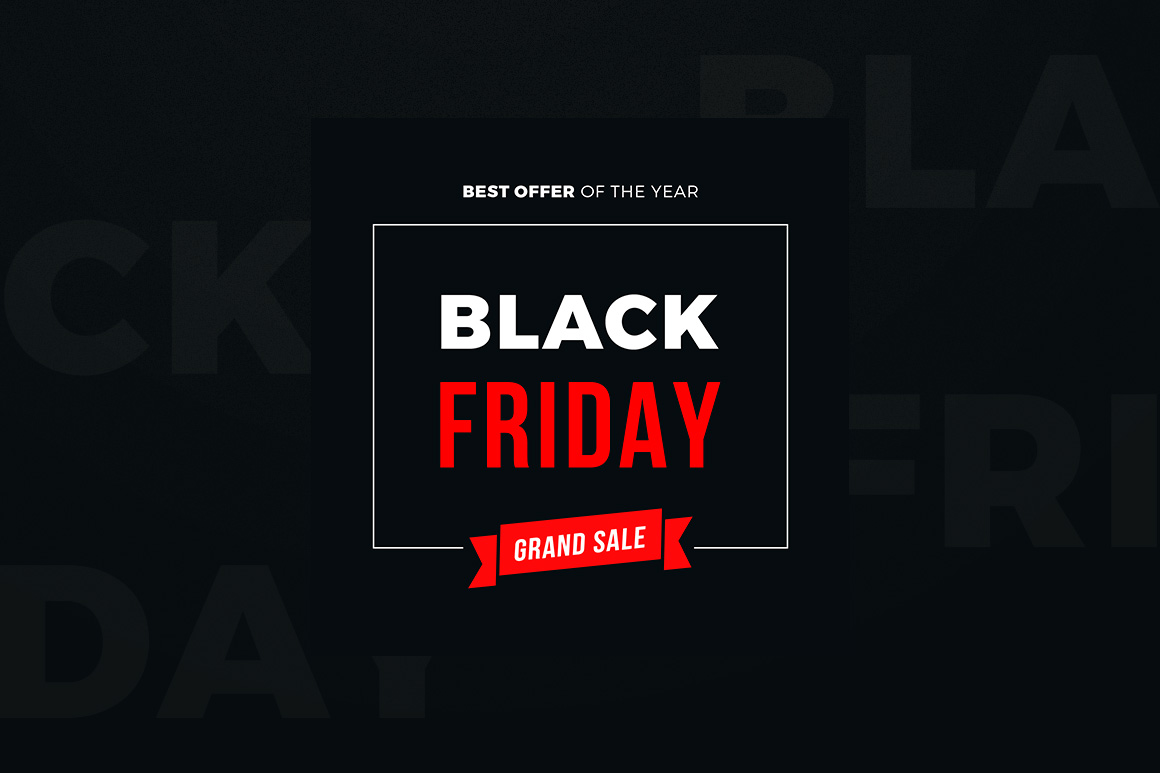 4 Black Friday Sale Banners Set example image 2