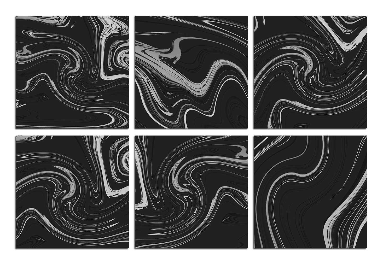 Silver Marble Textures example image 2