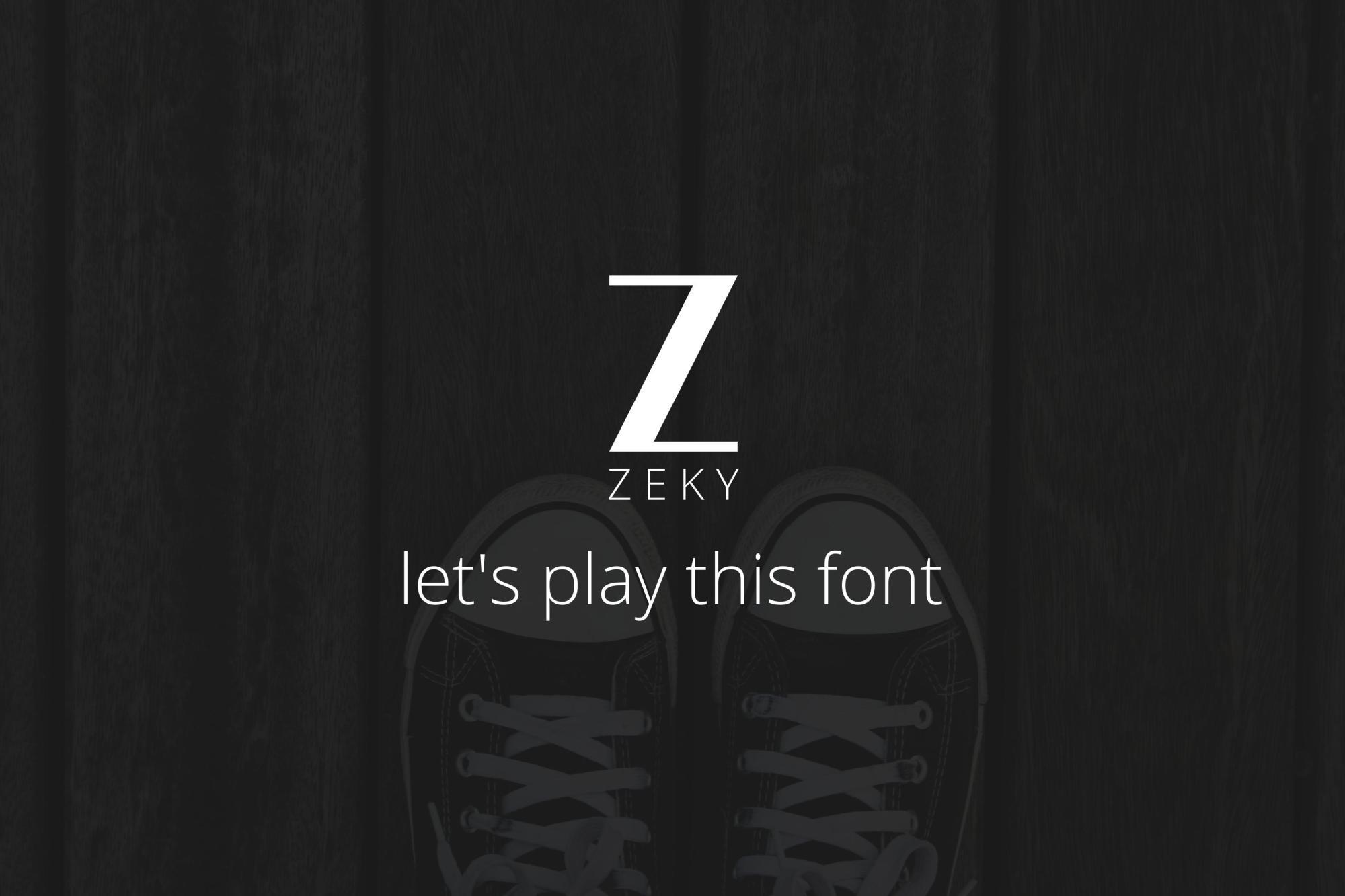 Zeky Typeface Font example image 3