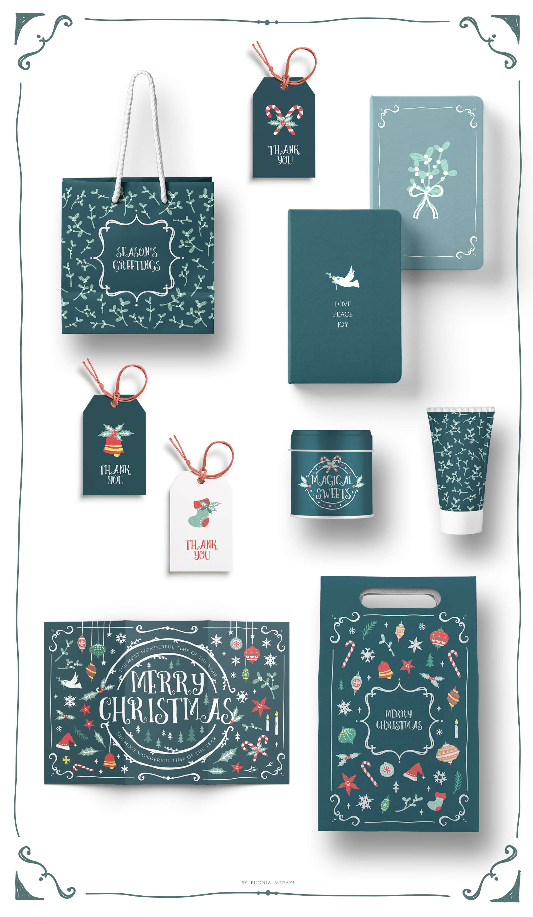 Christmas Joy - Cute and Festive Graphic Pack example image 9