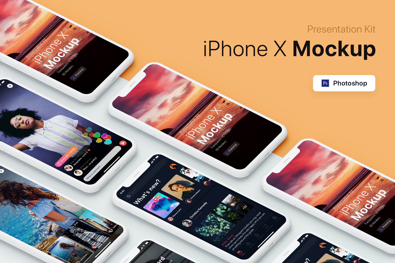 Presentation Kit - iPhone showcase Mockup_v4 example image 1