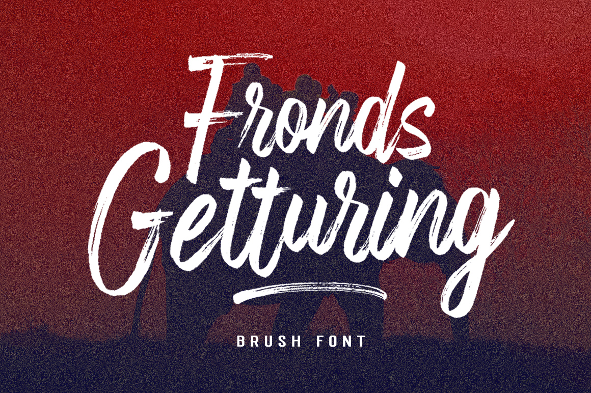 Fronds Getturing Brush Font example image 1