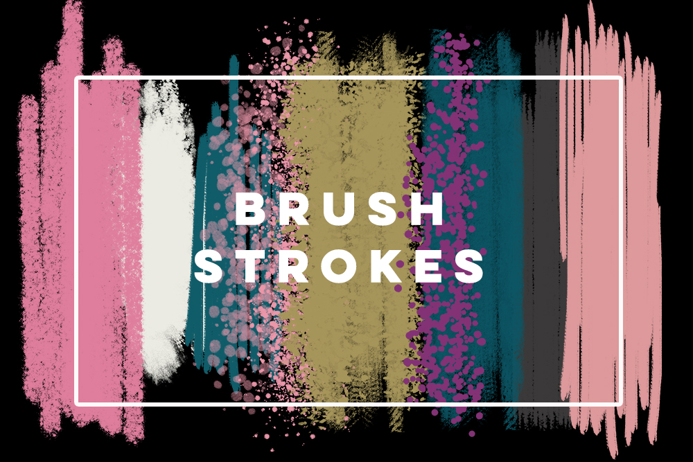 Digital watercolor brush strokes, acrylic brush, digital brush stroke, digital brush stroke, brush strokes clipart set, elements clipart example image 3