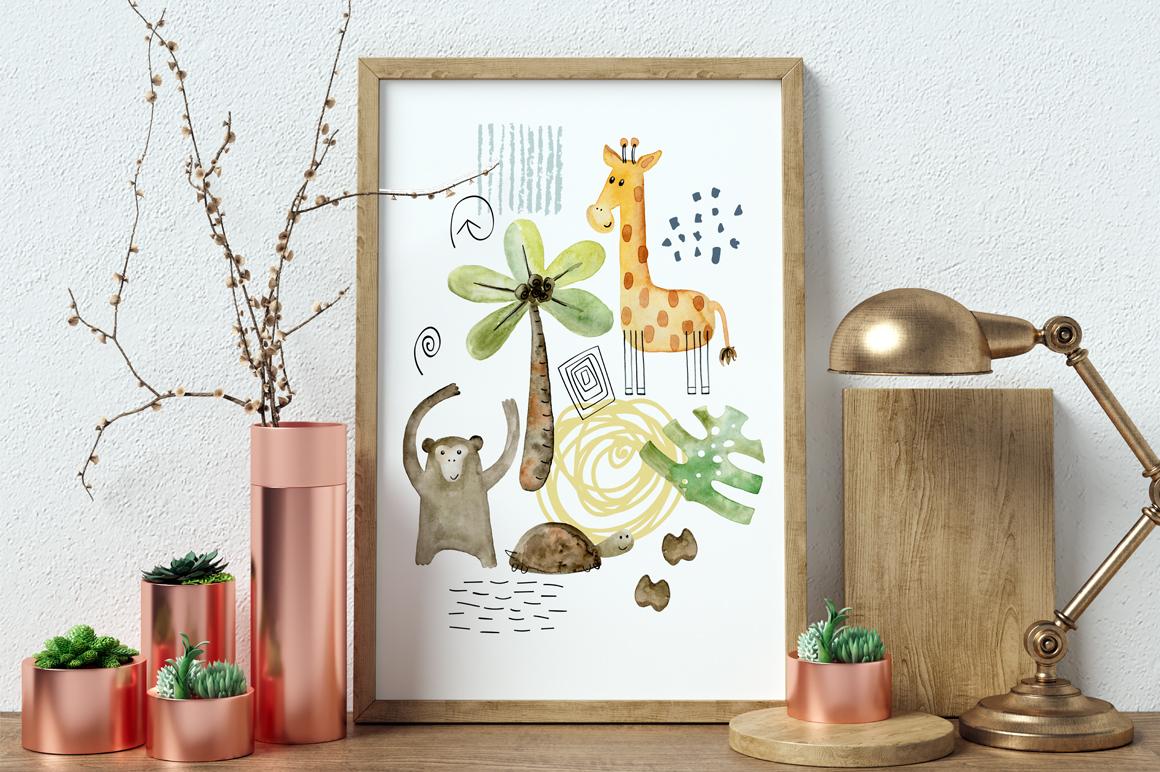 Safari animals. Kit. example image 9