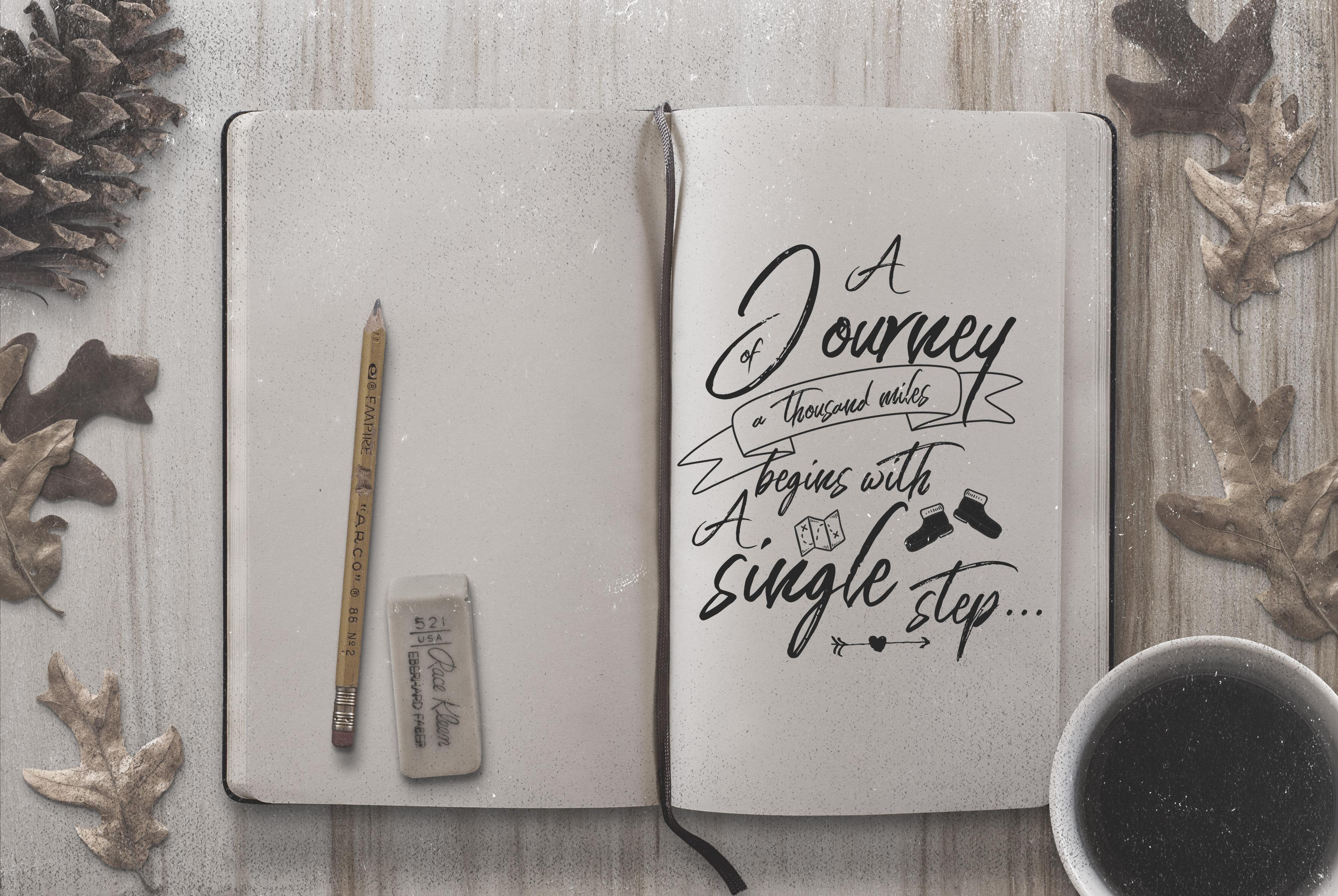 Words Count Design - Journey Overlay Bundle #1 example image 7