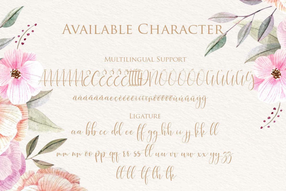 hokie   Beauty Stylistic Calligraphy example image 3