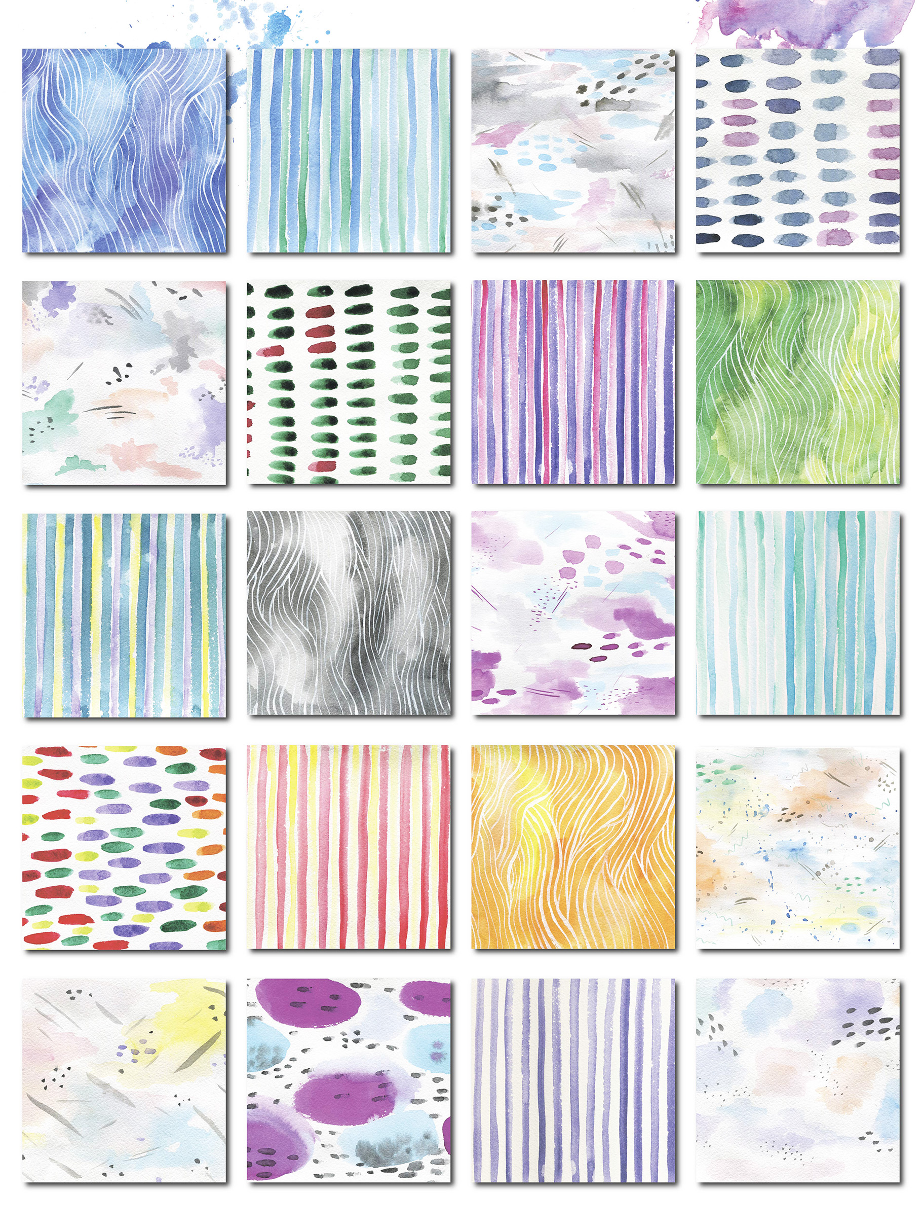 69  Watercolor textures backgrounds! example image 4
