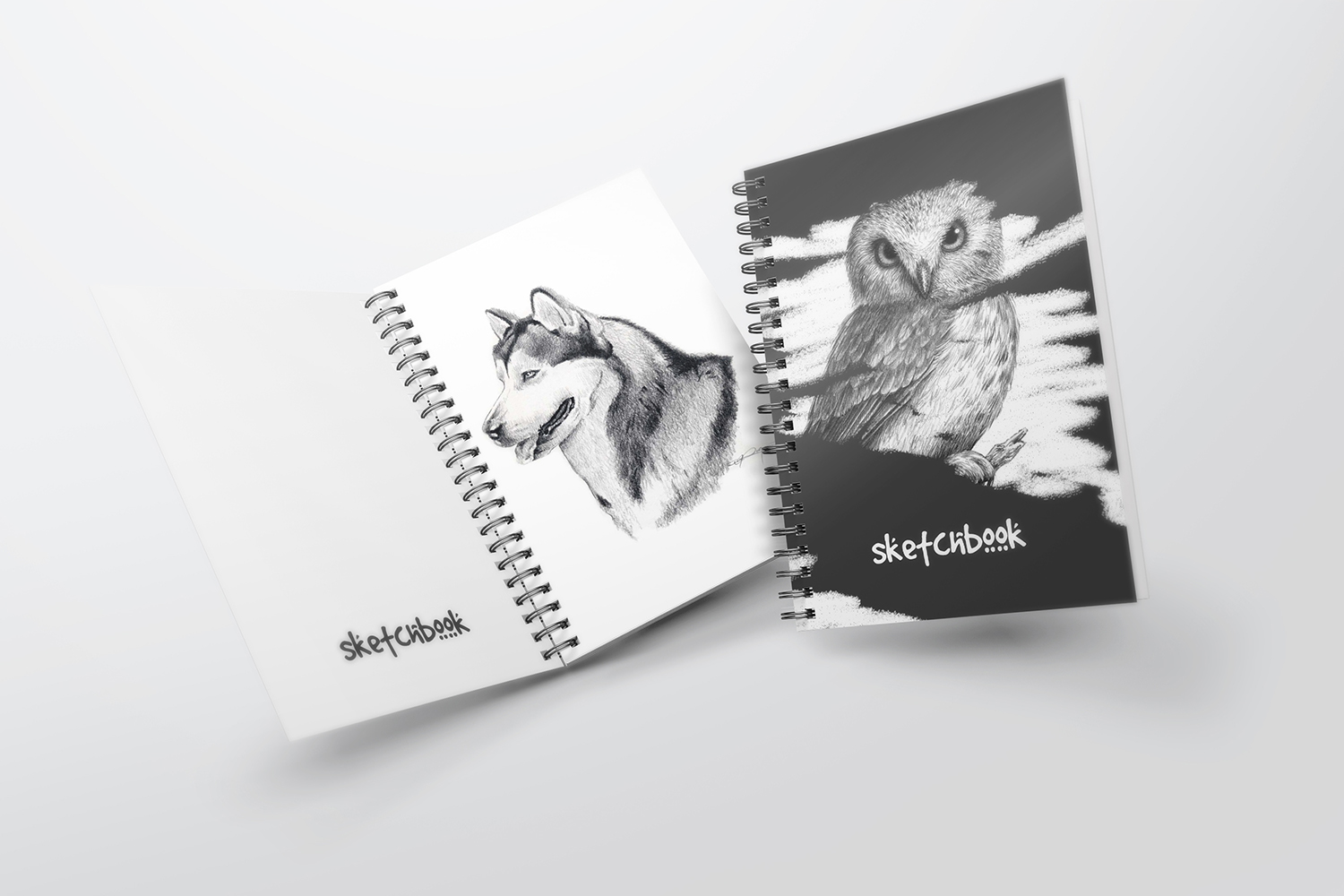 A5 Spiral Notebook Mockups example image 2