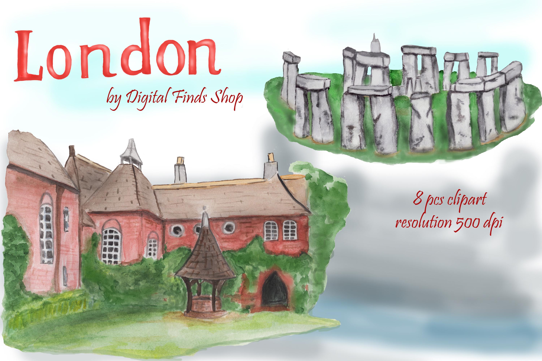 London symbols and landmark clipart Tower bridge, Big Ben example image 6