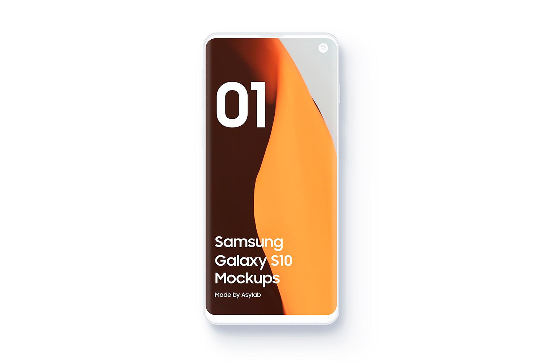Samsung S10 - 21 Clay Mockups - 5K - PSD example image 6