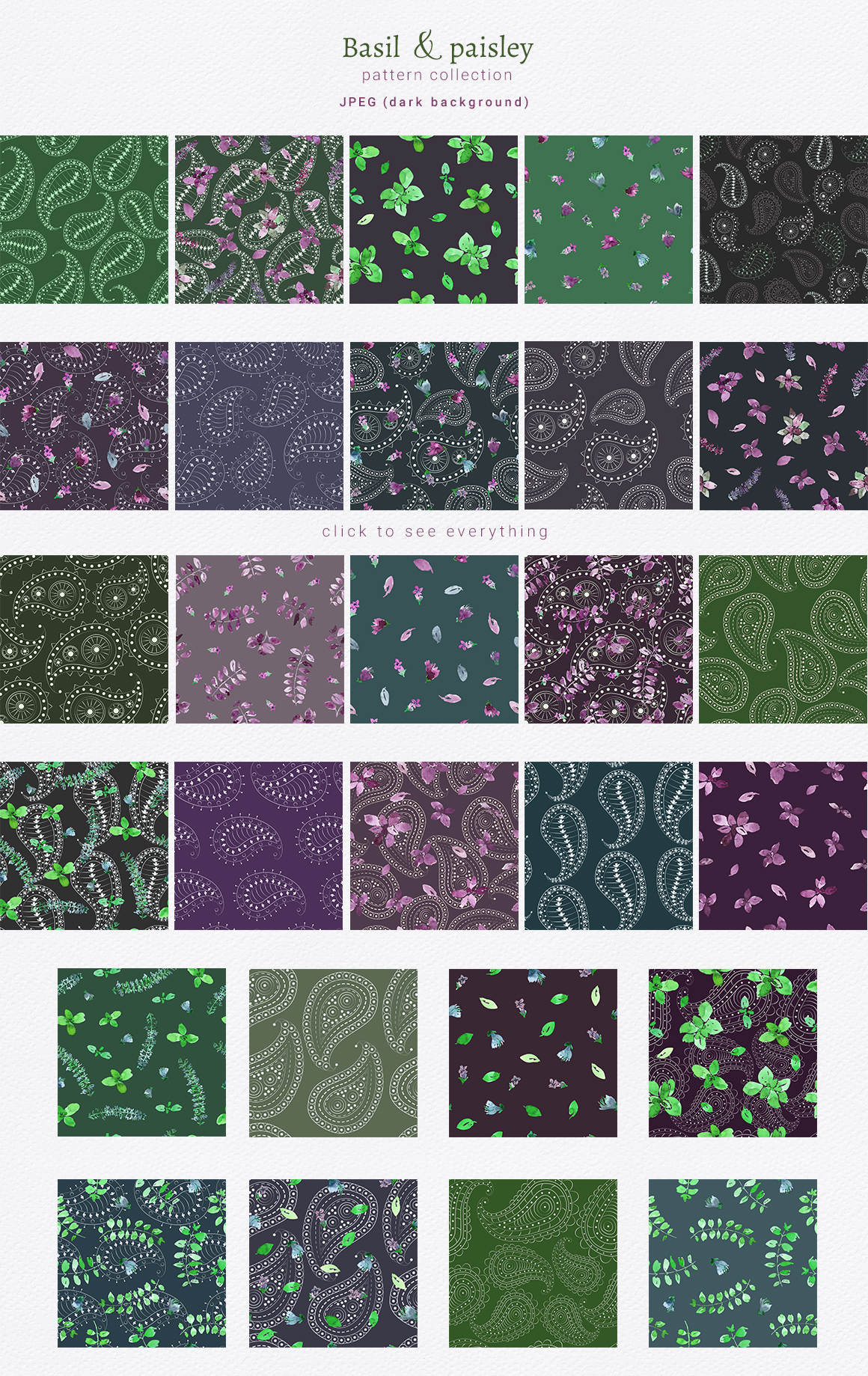 Basil & Paisley - pattern collection example image 9