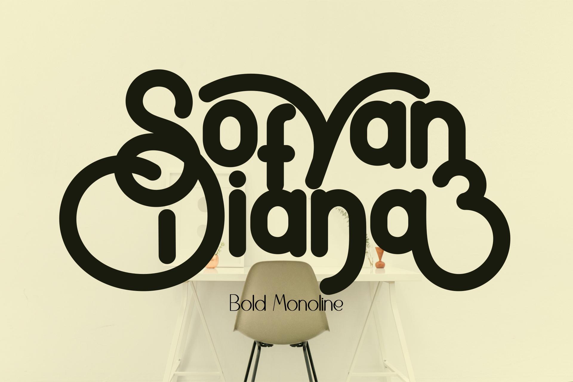 SofyanDiana Bold Monoline example image 1