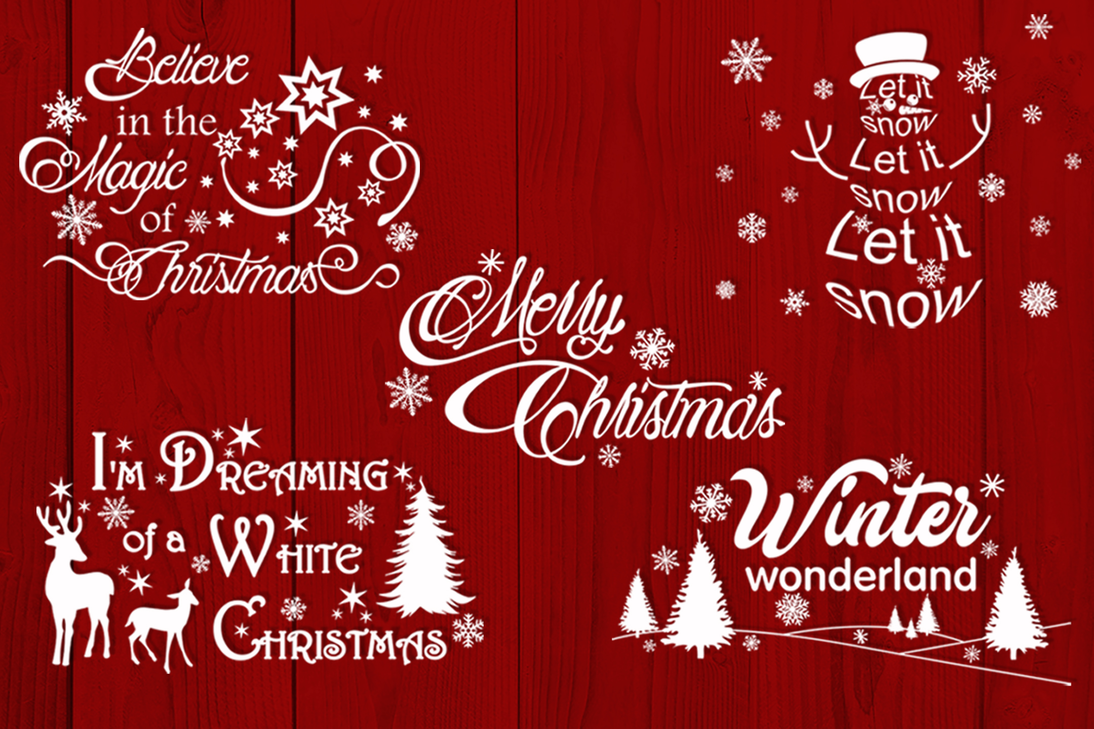 Christmas bundle svg Christmas sayings svg Winter svg example image 2
