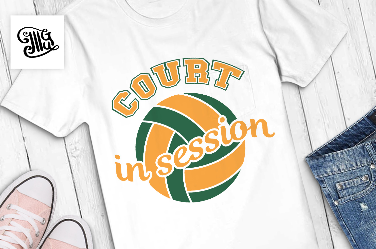 Volleyball svg bundle example image 7