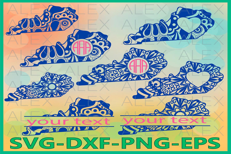Kentucky State SVG, Kentucky Mandala SVG, Zentangle svg example image 1