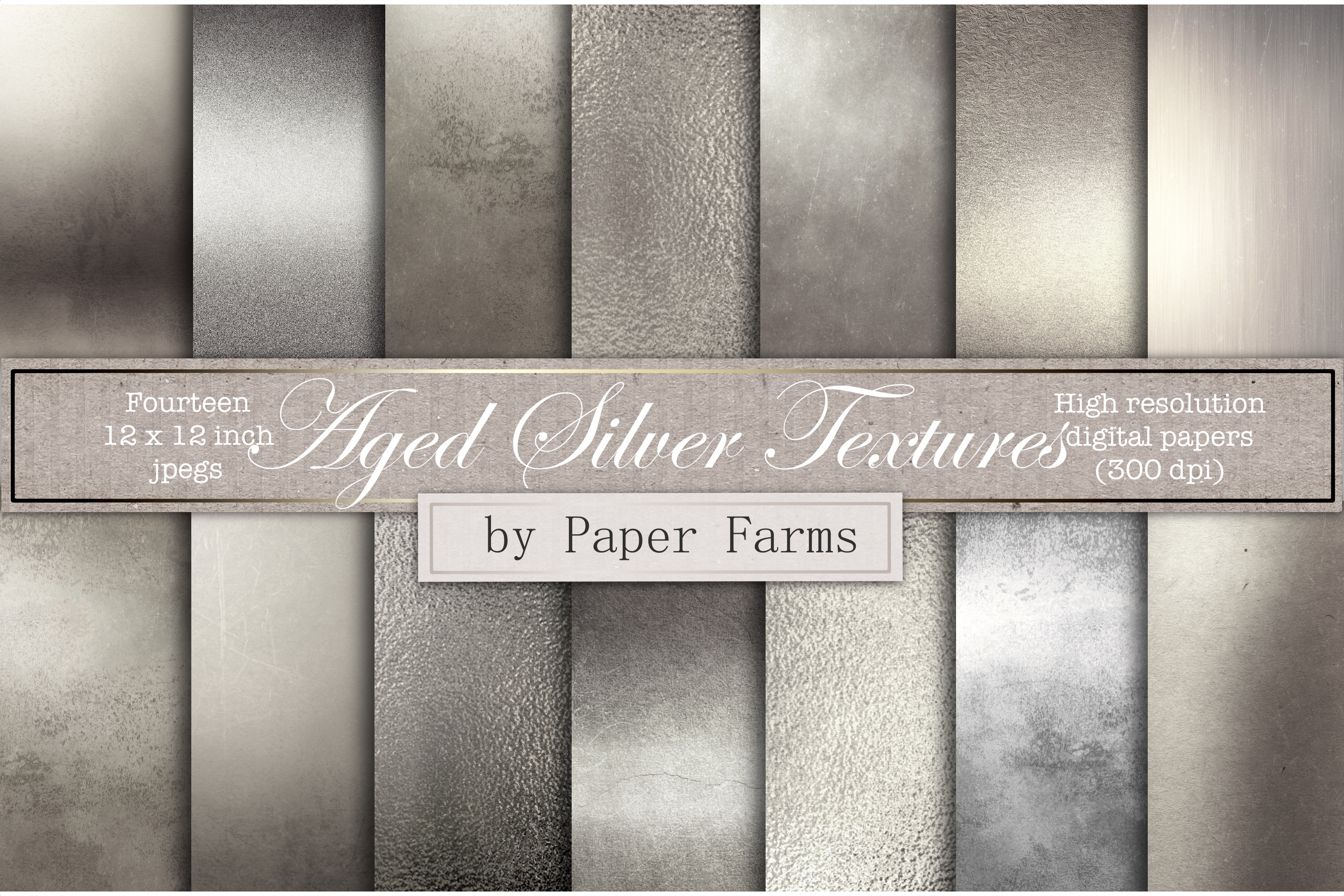 Antique silver textures example image 1