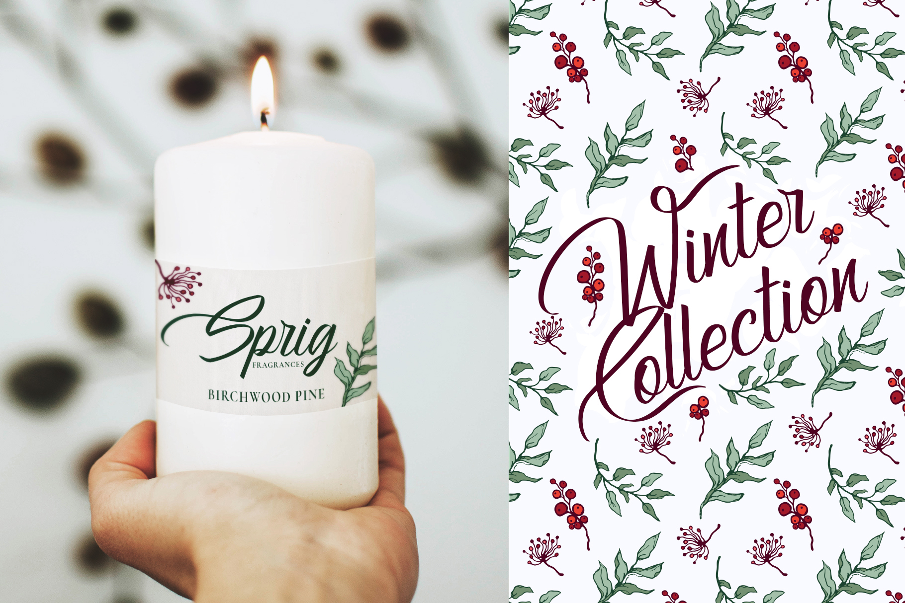 Winter Floral Patterns & Illustrations example image 18