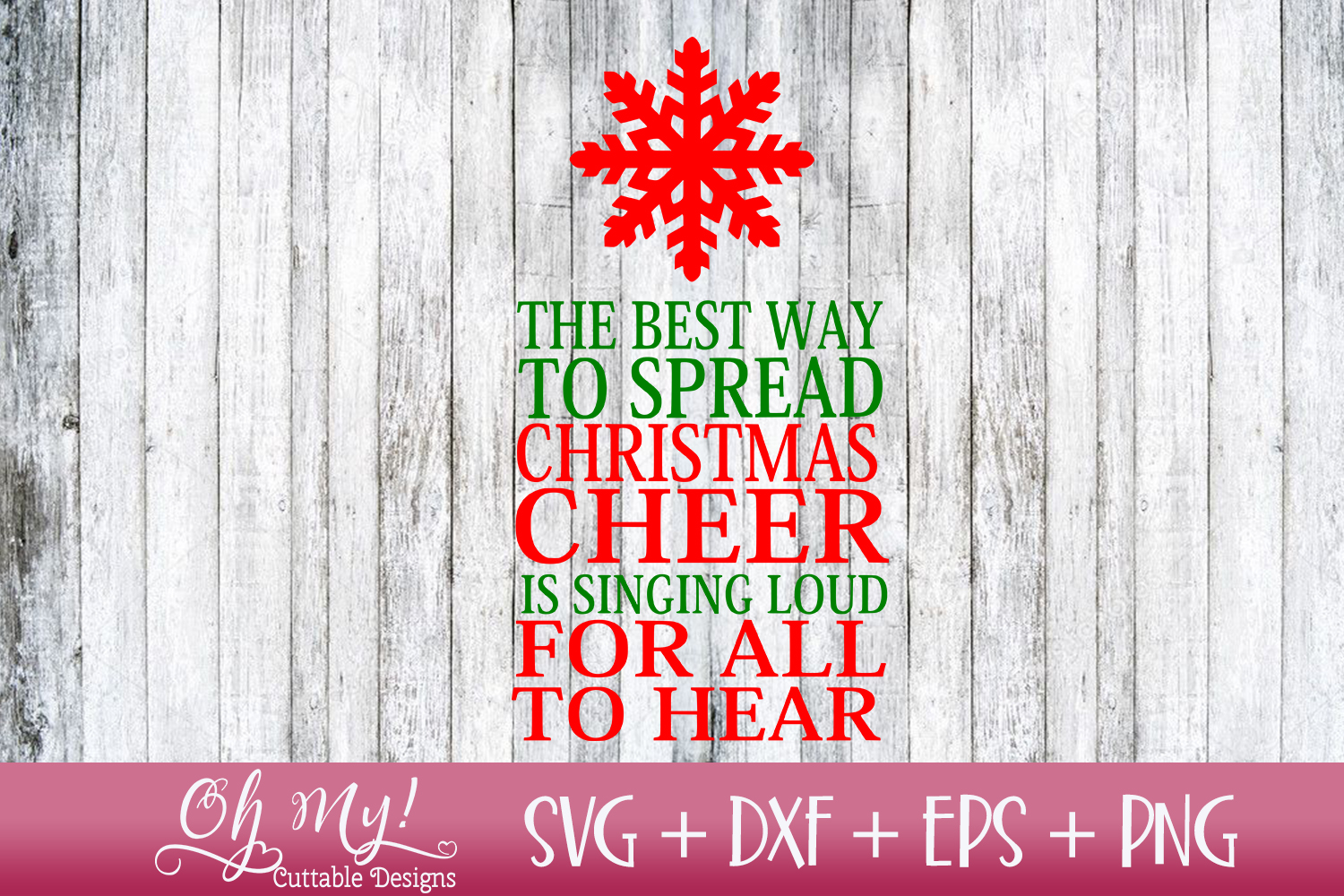 Spread Christmas Cheer - SVG DXF EPS PNG Cutting File example image 1