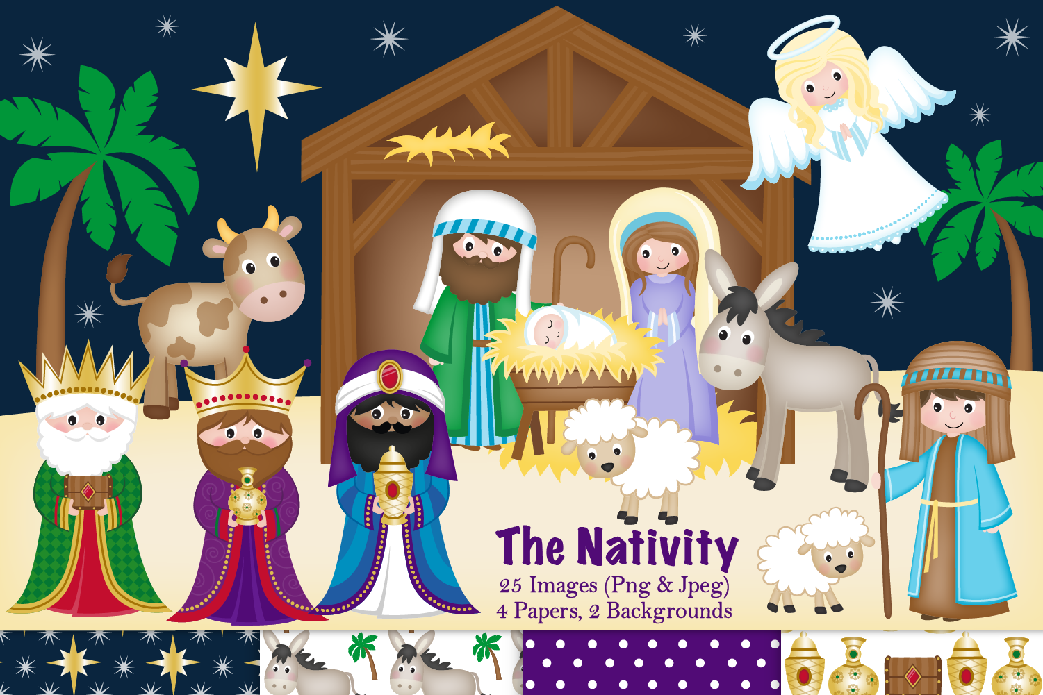 Nativity clipart, Christmas Nativity, Nativity Scene example image 1