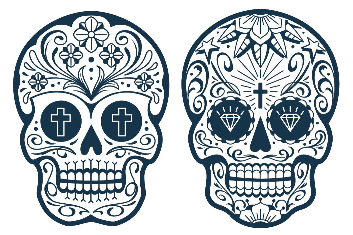 Vector Mexican Sugar Skulls example image 3