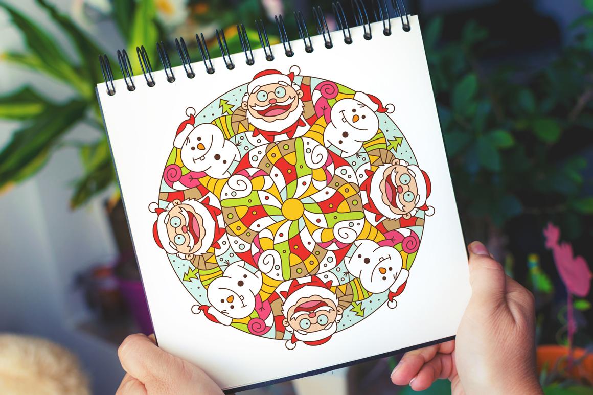 100 Christmas Mandala Ornaments example image 4