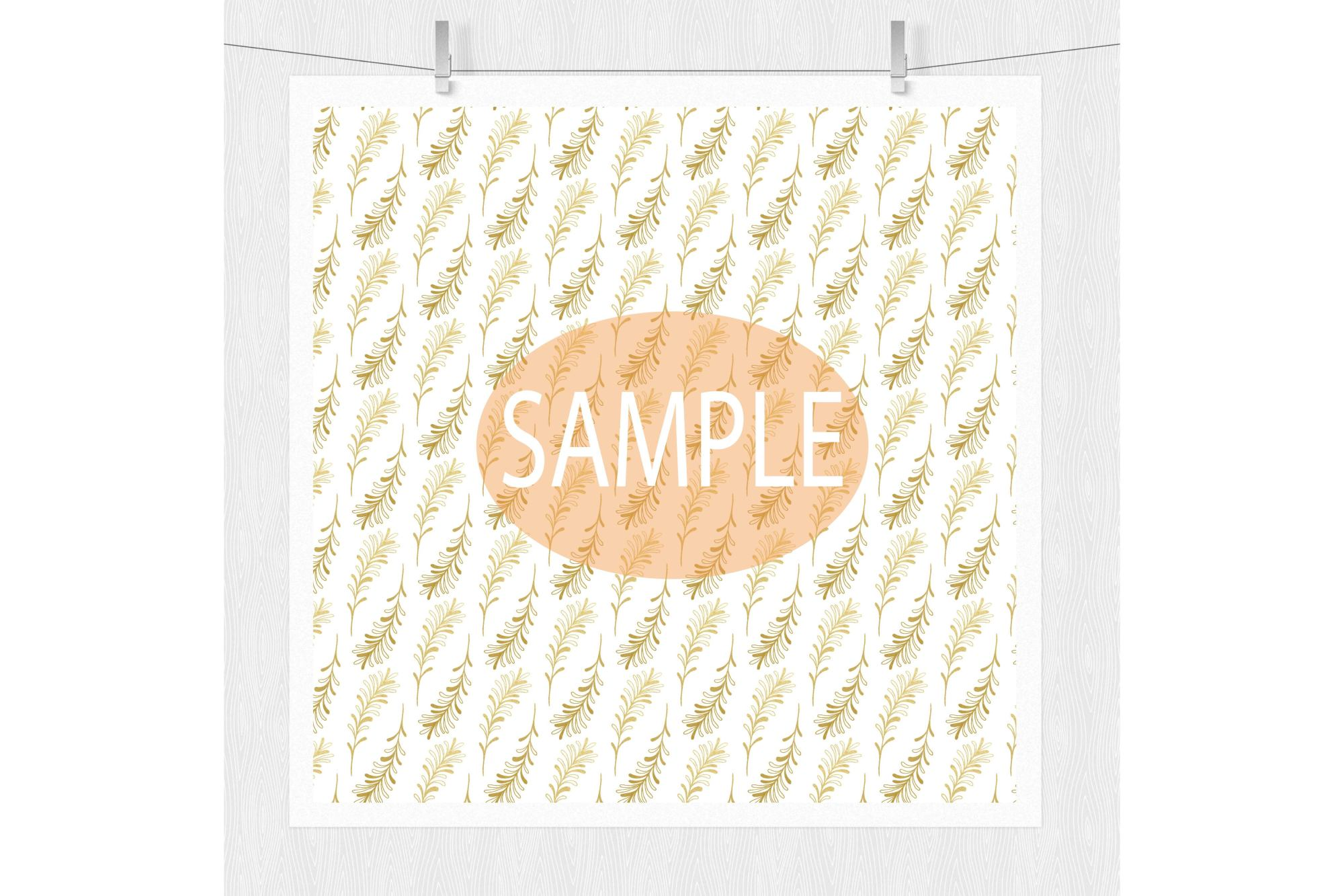 Gold Digital Paper example image 2
