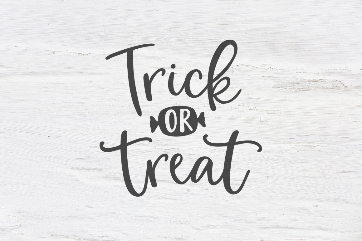 Trick or treat Halloween SVG, EPS, PNG, DXF example image 1