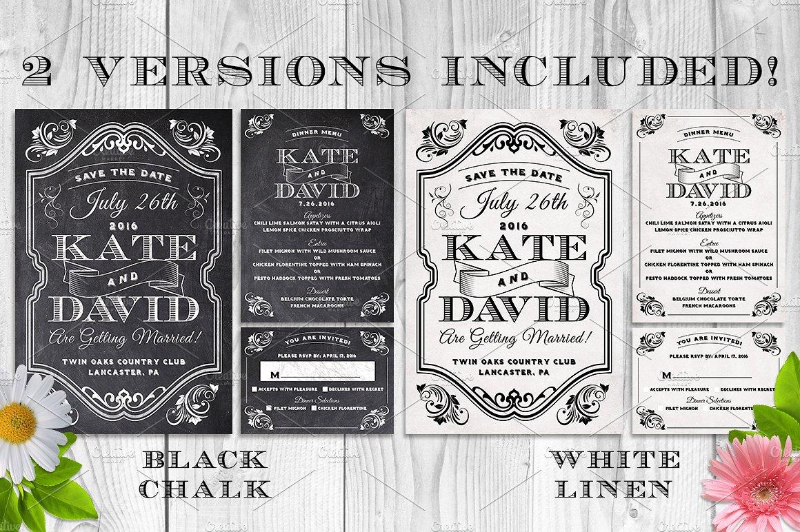 Massive Wedding Invite Bundle Flyer Save Date Bridal Shower  example image 6