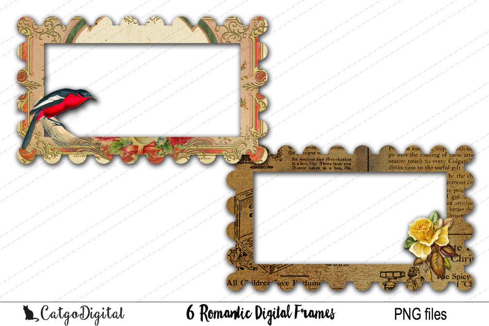 Digital Frames Clip Art PNG files example image 4