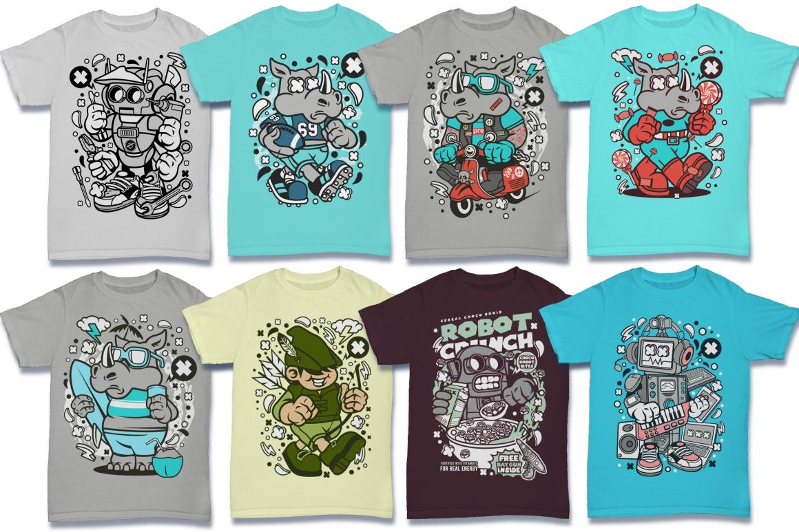 Cartoon Vector #6 Tshirt Design Bundle example image 21