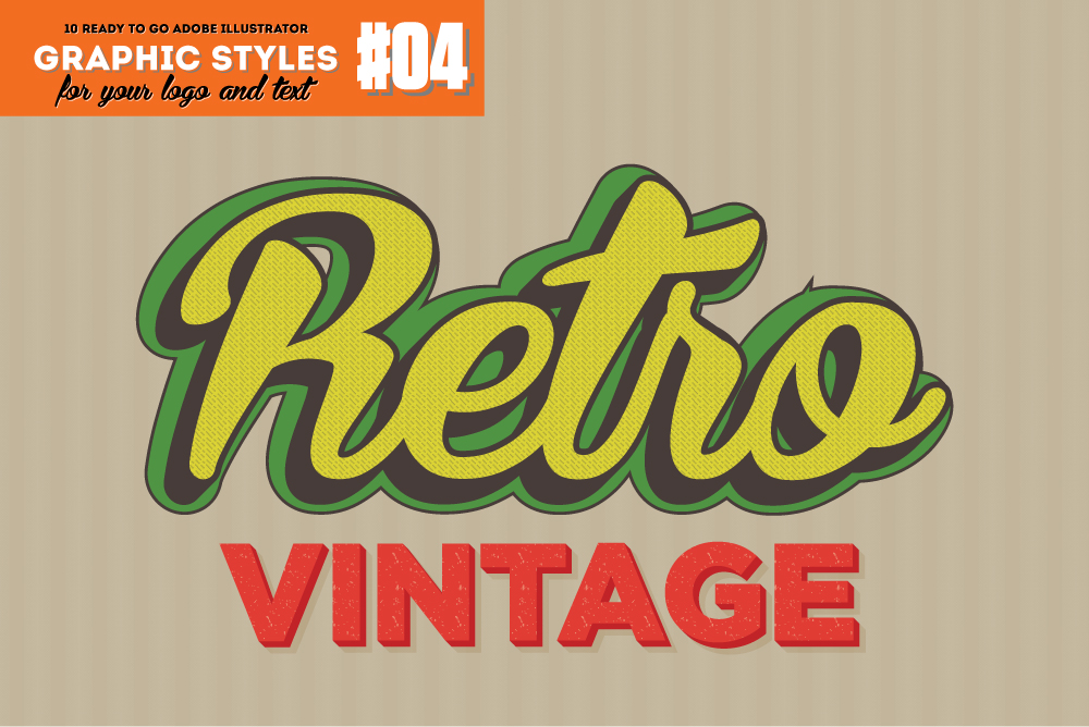 10 Vintage Graphic Style for Adobe Illustrator example image 1